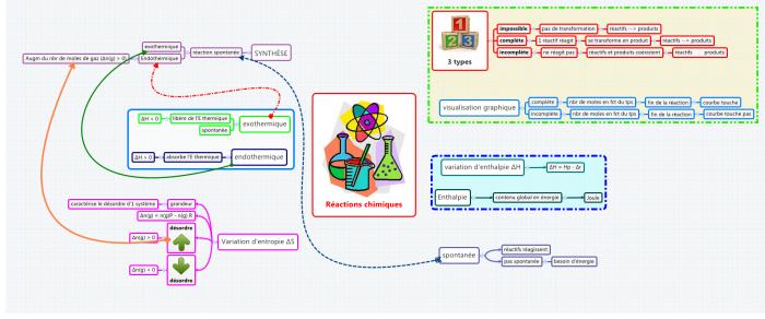 Carte cognitive réalisée avec le logiciel de mind mapping XMind par une étudiante du secondaire