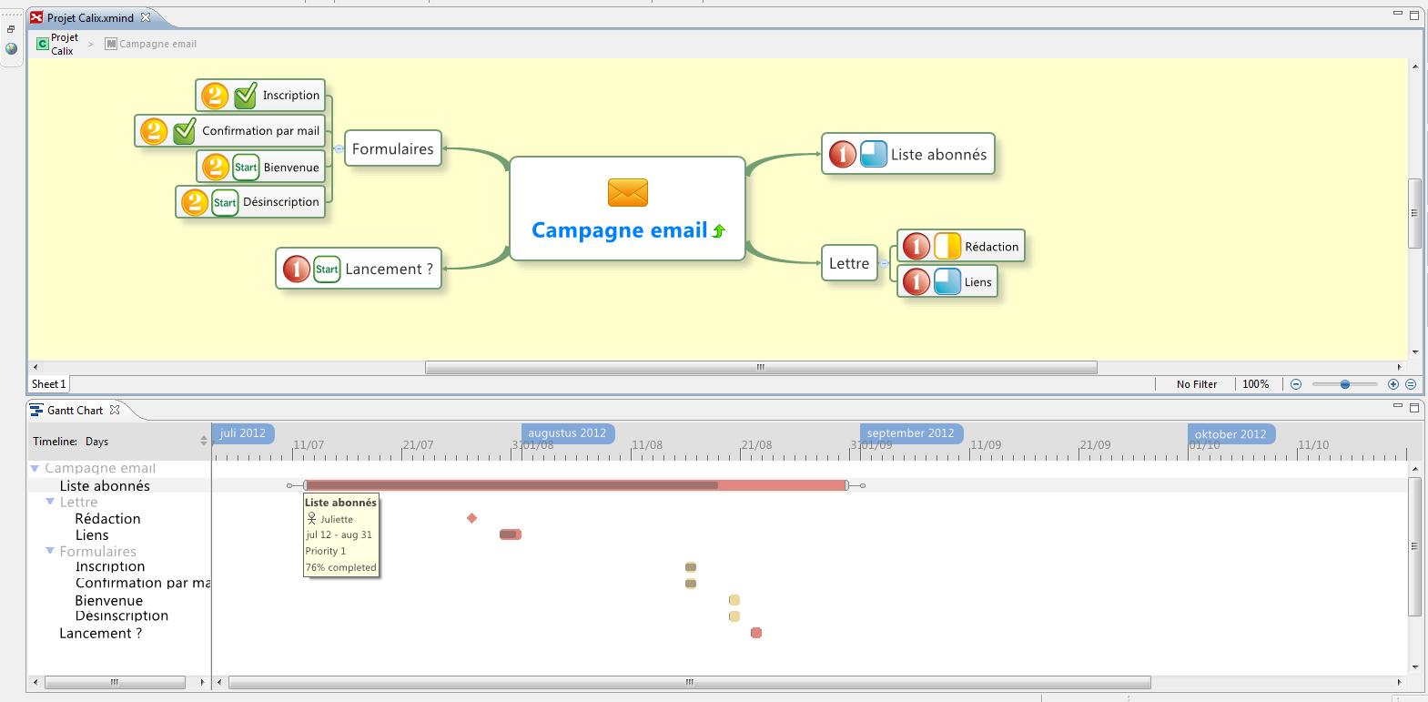 Xmind 2012 encore plus performant formation 30 nouveau diagramme de gantt dans le xmind 2012 ccuart Choice Image