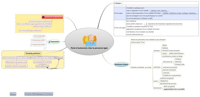 Mindmap réalisée avec XMind par un participant à une formation mindmapping