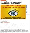 Photos et chapeau de MyEurop - illustration article citoyens-policiers
