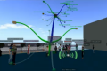 Photo illustrant une carte mentale en 3D dans le monde immersif Francogrid