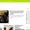 Ecran d'accueil de la rubrique actualité de l'agrégateur Feedly