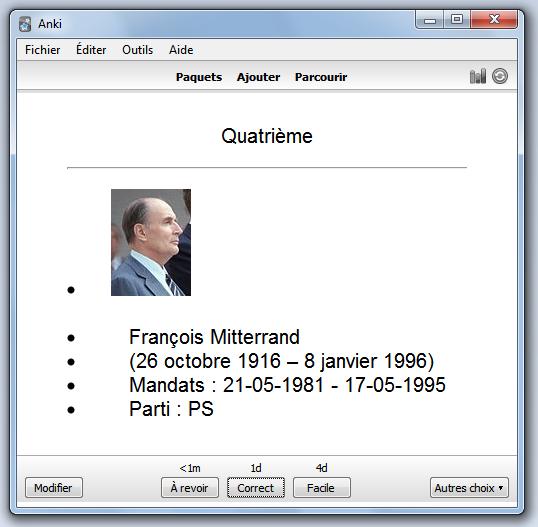 Quatrième sujet principal de ma mindmap XMind devenu quatrième flascard de mon application Anki