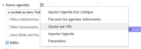 Comment ajouter un flux de tâches dans mindmeister dans l'agenda Google