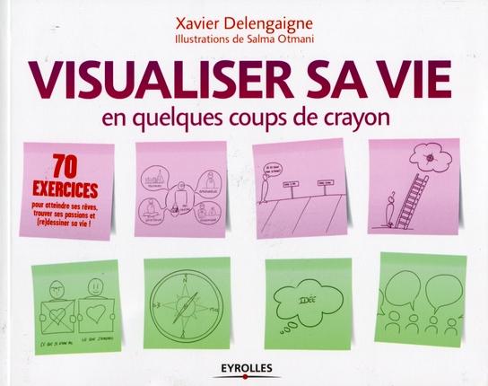 Couverture du livre Visualiser sa vie en quelques coups de crayon de Xavier Delengaigne et Salma Otmani