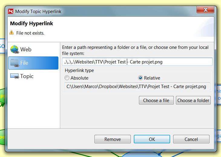 How to insert a hyperling toward an external VUE file