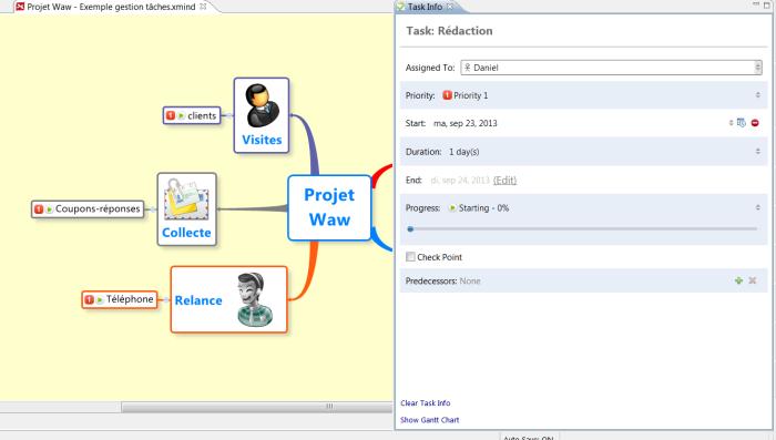Gestion de projet avec le logiciel de mind mapping XMind et Excel