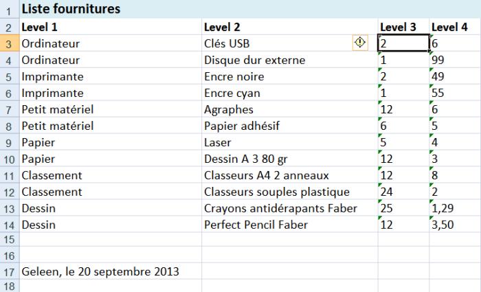 Exportez vos données dans Excel depuis XMind 2013