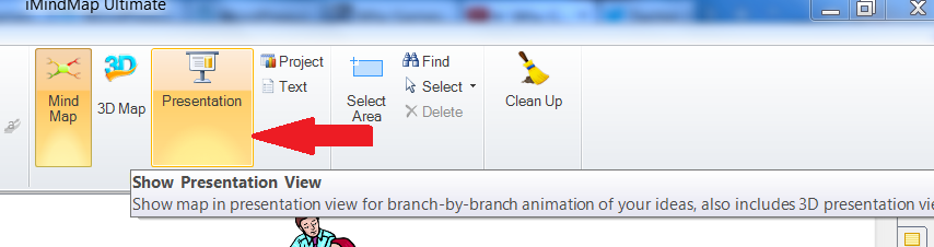 How to go to the presentation view