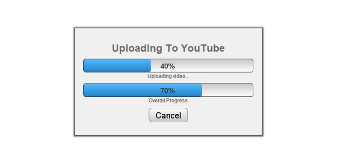 Progression du téléchargement de votre mindmap vers la vidéo