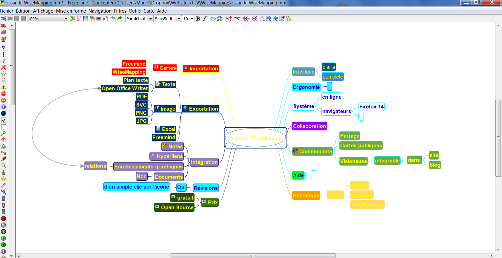 Wisemapping du mindmapping collaboratif gratuit et open source formation 3 0 for Plan en d gratuit en ligne