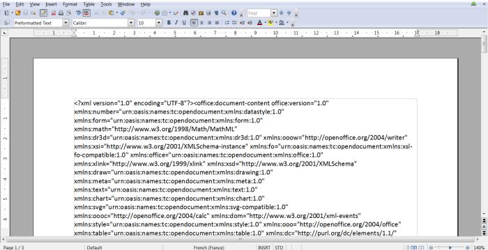 exportation d'une mindmap Wisemapping vers le traitement de texte Open Office Writer