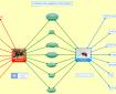 Une carte double-bulle réalisée avec XMind en français pour comparer des araignées et des insectes