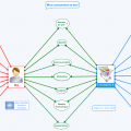 Analyse de la concurrence avec une double-bulle réalisée avec le logiciel de mindmapping XMind