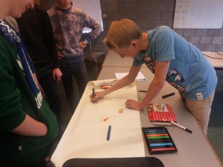 Travail en groupe sur la pensée visuelle et la communication non-verbale lors du brise-glace