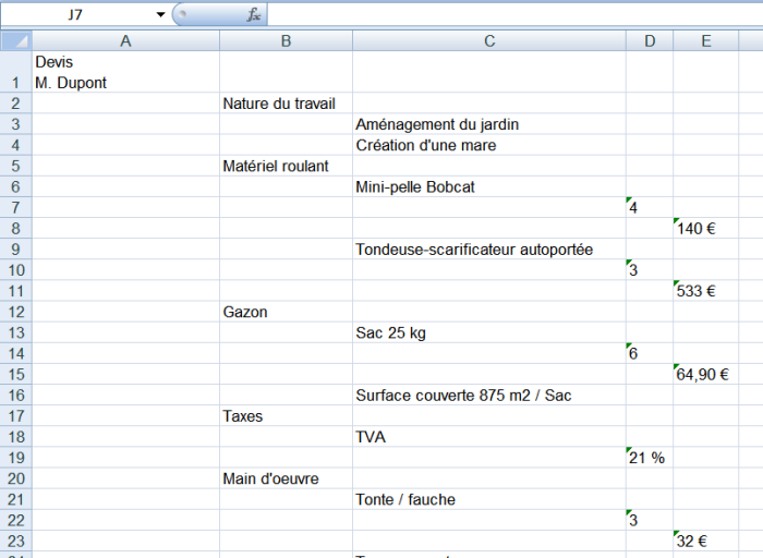 Exportation d'une mindmap Mindomo sous forme d'arborescence horizontale dans Excel