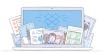 Logo de l'application de stockage de données dans le cloud Dropbox Pro