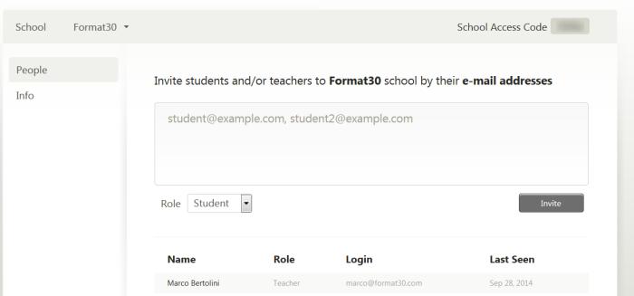 Administration d'une école virtuelle avec l'interface School de Mindomo