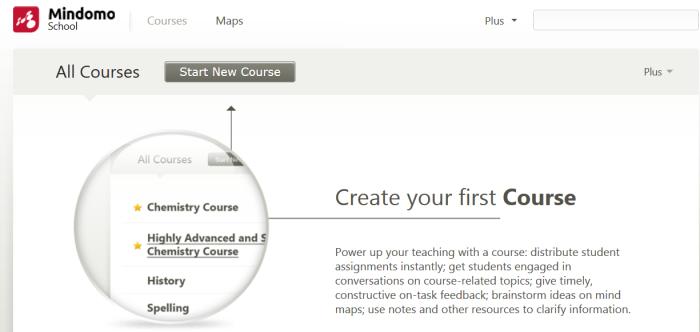 Création d'un cours à distance avec la plateforme School de Mindomo