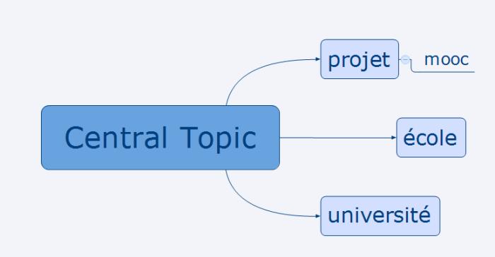 Carte mentale résultant du brainstorming après avoir glissé les idées depuis la boîte à idées
