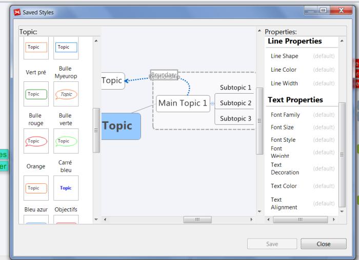 Nouvel éditeur de style de XMind 6 - nombreux paramétrages graphiques