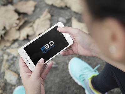 Logo de formation 3.0 en incrustation sur un smartphone