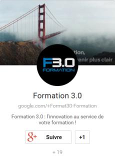 Badget Google+ de Formation 3.0