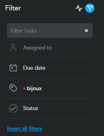 Meistertask : filtrer les tâches par mots-clés ou tags, statut, date limite, deadline ou personne en charge