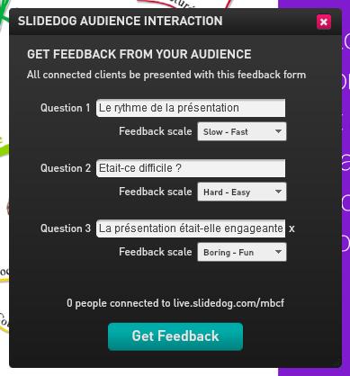 Obtenez un feedback immédiat sur votre présentation avec SlideDog, logiciel de présentation interactif