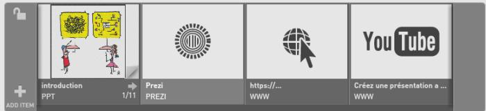 Tous les fichiers multimédias ont été ajoutés à la playlist SlideDog