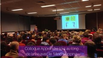 Ouverture du colloque Apprendre tout au long de la vie avec le mindmapping par Fabienne De Broeck et Marco Bertolini