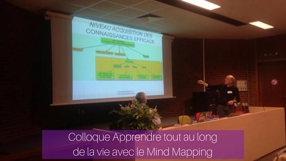 Pierre Mongin explicite l'acquisition des connaissances à l'aide d'une carte mentale