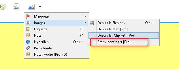 Nouvelle option de recherche d'images avec IconFinder dans la nouvelle version beta de XMind 7.5