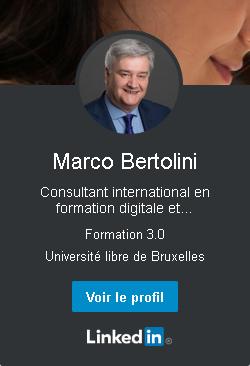 Marco Bertolini - profil Linkedin - consultant en formation numérique et conception pédagogique