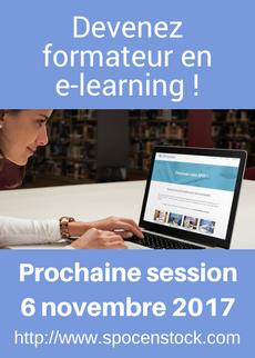 Formation Créez votre cours en ligne - session de novembre 2017 - devenez formateur en elearning