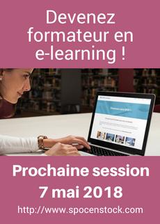 Prochaine session de la formation Créez votre cours en ligne en mars 2018