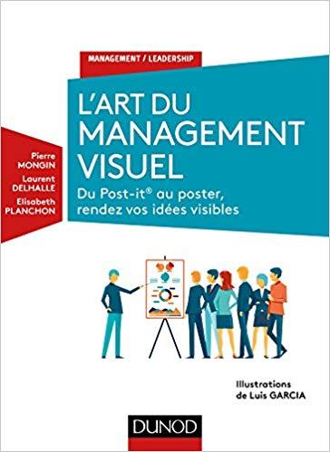 Couverture du livre de Pierre Mongin l'art du management visuel, du post-it au poster, rendez vos idées visibles