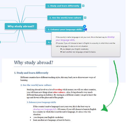 Nouvelles fonctionalités d'export de mindmaps vers Microsoft Word chez Mindomo