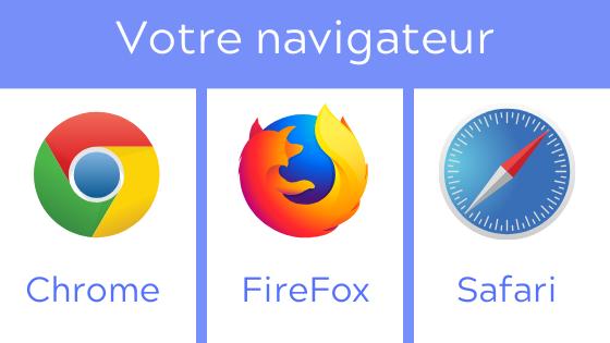 Navigateurs compatibles avec le Course Networking : Chrome, Firefox et Safari