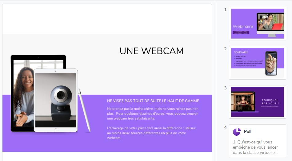 Wooclap permet d'intégrer une question ou un sondage dans une présentation en quelques clics